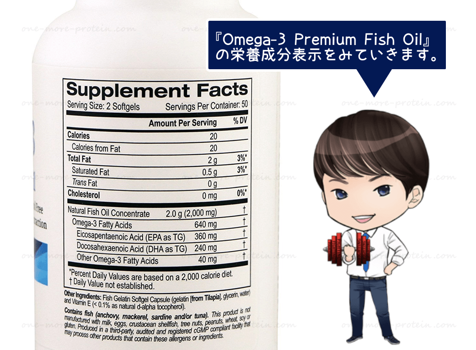 Madre Labs『Omega-3 -Premium Fish Oil-』の全成分と効果